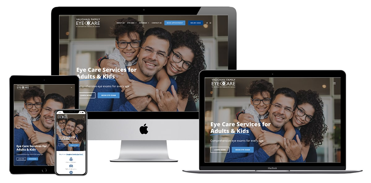 Vaughan Family Eye Care Website