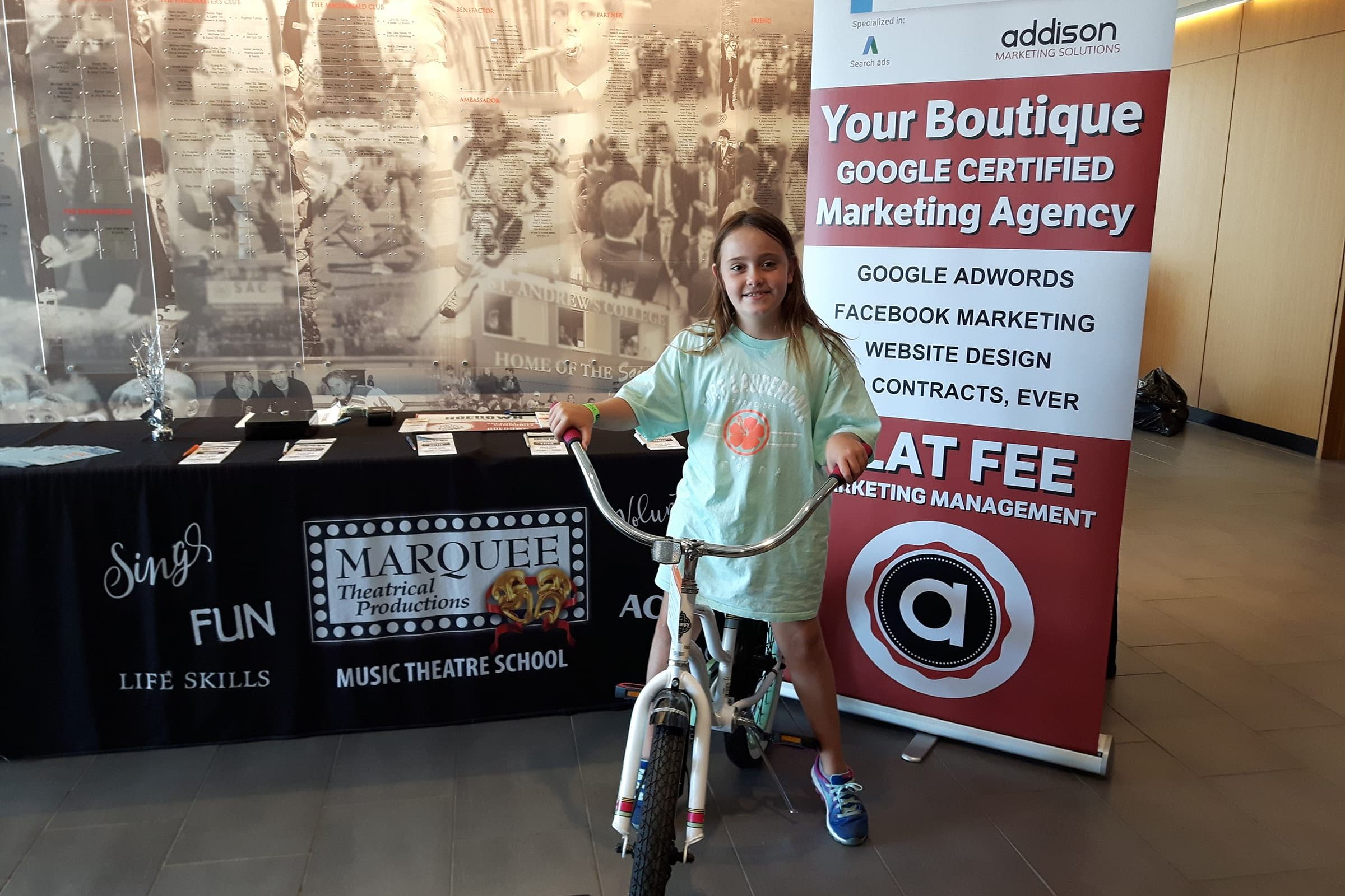 Marquee Theatre bike giveaway